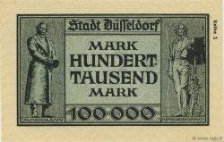 100000 Mark ALLEMAGNE Düsseldorf 1923  NEUF