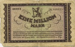 1 Million Mark ALLEMAGNE Düsseldorf 1923  B