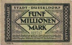 5 Millions Mark ALLEMAGNE Düsseldorf 1923  TTB