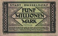 5 Millions Mark ALLEMAGNE Düsseldorf 1923  SUP