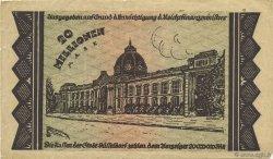 20 Millions Mark ALLEMAGNE Düsseldorf 1923  pr.TTB