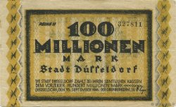 100 Millions Mark ALLEMAGNE Düsseldorf 1923  TTB+