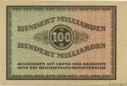 100 Milliards Mark ALLEMAGNE Düsseldorf 1923  TTB