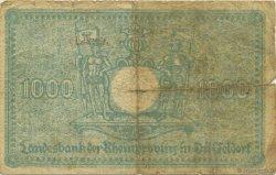 1000 Mark ALLEMAGNE Düsseldorf 1922  B