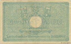 1000 Mark ALLEMAGNE Düsseldorf 1922  TTB