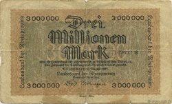3 Millions Mark ALLEMAGNE  1923  B