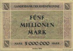 5 Millions Mark ALLEMAGNE Düsseldorf 1923  TTB+