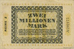 2 Millions Mark ALLEMAGNE Düsseldorf 1923  TTB