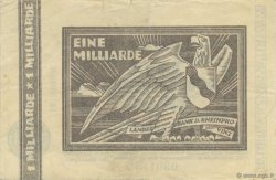 1 Milliard Mark ALLEMAGNE  1923  TTB