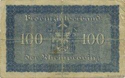 100 Mark ALLEMAGNE Düsseldorf 1918  B+