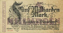5 Milliards Mark ALLEMAGNE Düsseldorf 1923  TTB