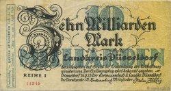 10 Milliards Mark ALLEMAGNE Düsseldorf 1923  TTB