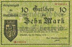 10 Mark ALLEMAGNE Elberfeld 1918  SPL