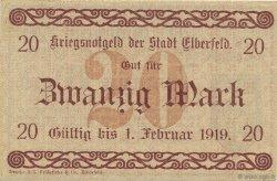 20 Mark ALLEMAGNE Elberfeld 1918  SUP+