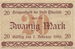 20 Mark ALLEMAGNE Elberfeld 1918  pr.NEUF