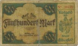 500 Mark ALLEMAGNE Elberfeld 1922  B