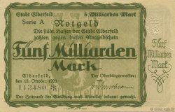5 Milliards Mark ALLEMAGNE  1923  SUP