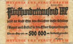 500000 Mark ALLEMAGNE Essen 1923  TTB