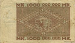 1 Milliard Mark ALLEMAGNE  1923  TB