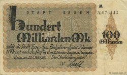 100 Milliards Mark ALLEMAGNE  1923  pr.TTB