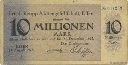 10 Millions Mark ALLEMAGNE Essen 1923  TTB