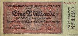 1 Milliard Mark ALLEMAGNE Essen 1923  pr.SUP