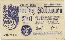 50 Millions Mark ALLEMAGNE Frankenthal 1923  TTB+