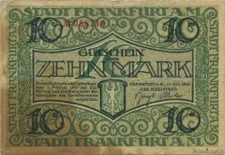 10 Mark ALLEMAGNE Frankfurt Am Main 1918  TB