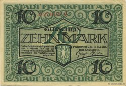 10 Mark ALLEMAGNE Frankfurt Am Main 1918  TTB+