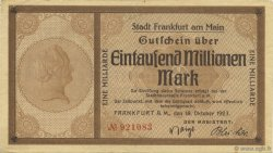 1 Milliard Mark ALLEMAGNE Frankfurt Am Main 1923  TTB