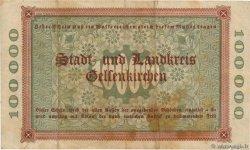 100000 Mark ALLEMAGNE Gelsenkirchen 1923  TB+