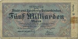 5 Milliards Mark ALLEMAGNE  1923  B