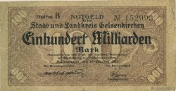 100 Milliards Mark ALLEMAGNE  1923  TB