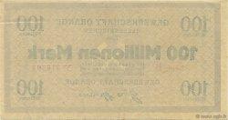 100 Millions Mark ALLEMAGNE Gelsenkirchen 1923  SUP