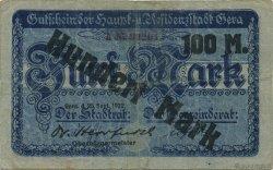 100 Mark ALLEMAGNE Gera 1922  TB