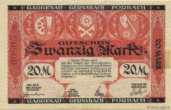 20 Mark ALLEMAGNE  1922  TTB
