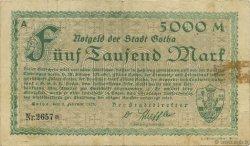 5000 Mark ALLEMAGNE Gotha 1923  TB+