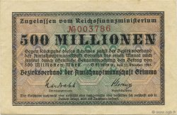 500 Millions Mark ALLEMAGNE  1923  SUP