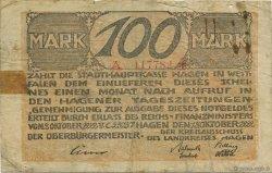100 Mark ALLEMAGNE Hagen 1922  B