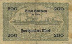 200 Mark ALLEMAGNE Hamborn Am Rhein 1922  TB+