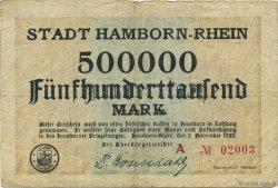 500000 Mark ALLEMAGNE Hamborn Am Rhein 1922  pr.TTB