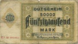 50000 Mark ALLEMAGNE  1923  B