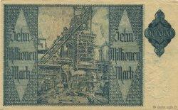 10 Millions Mark ALLEMAGNE Hamborn Am Rhein 1923  TTB+