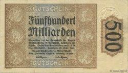500 Milliard Mark ALLEMAGNE Hamborn Am Rhein 1923  SUP