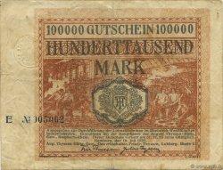 100000 Mark ALLEMAGNE Hamborn Am Rhein 1923  pr.TTB