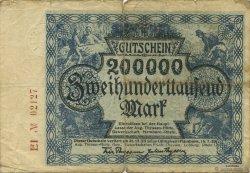 200000 Mark ALLEMAGNE Hamborn Am Rhein 1923  TB