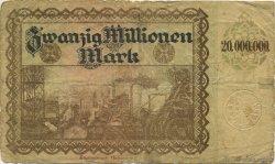 20 Millions Mark ALLEMAGNE  1923  B+
