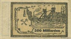 200 Milliards Mark ALLEMAGNE Hamborn Am Rhein 1923  TTB