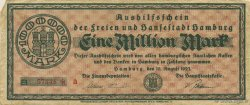 1 Million Mark ALLEMAGNE Hambourg 1923  TB