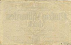 50 Milliards Mark ALLEMAGNE Hambourg 1923  TTB